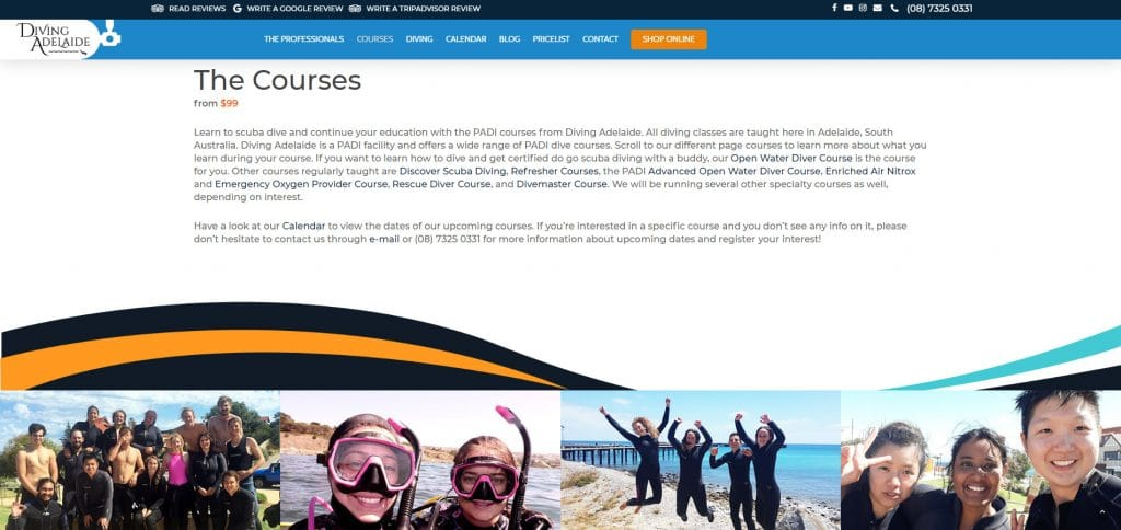 Diving Adelaide - Scuba Diving Website