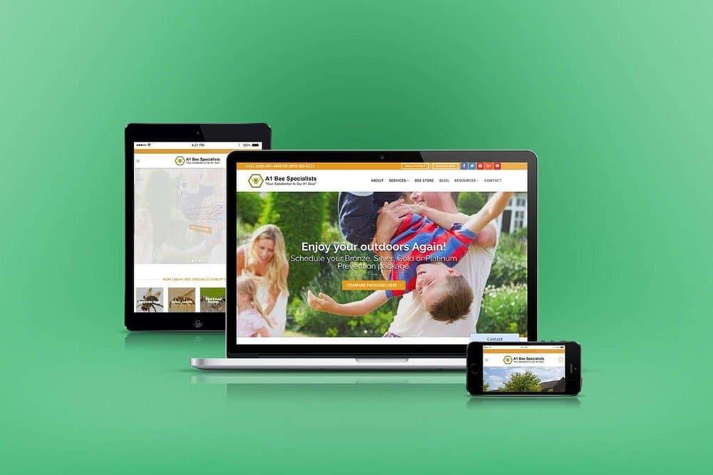 WordPress Web Design for Bee Specialist