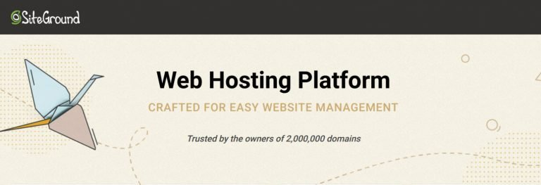 SiteGround Web Hosting for WordPress
