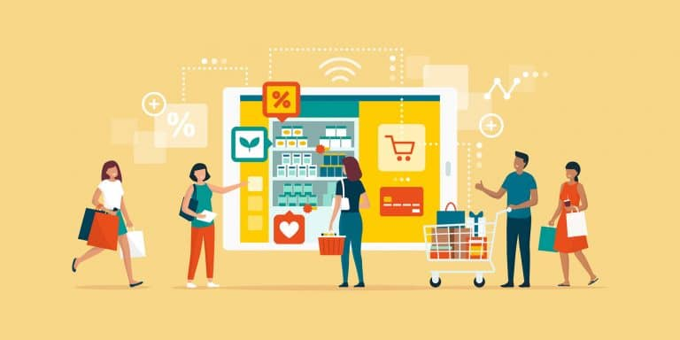 Customers shopping online