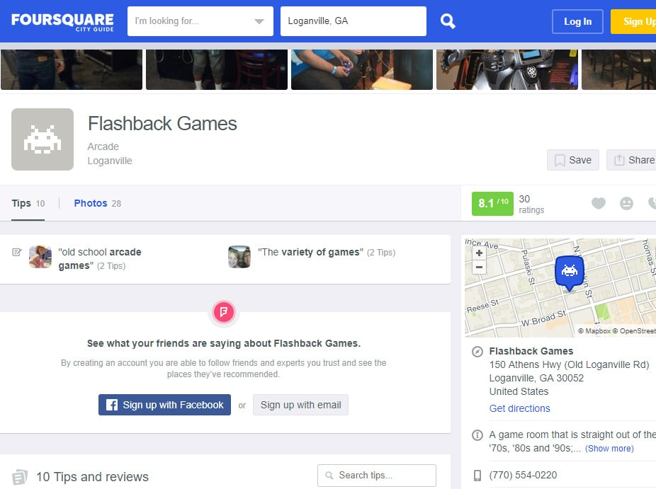 Foursquare Local SEO Listing