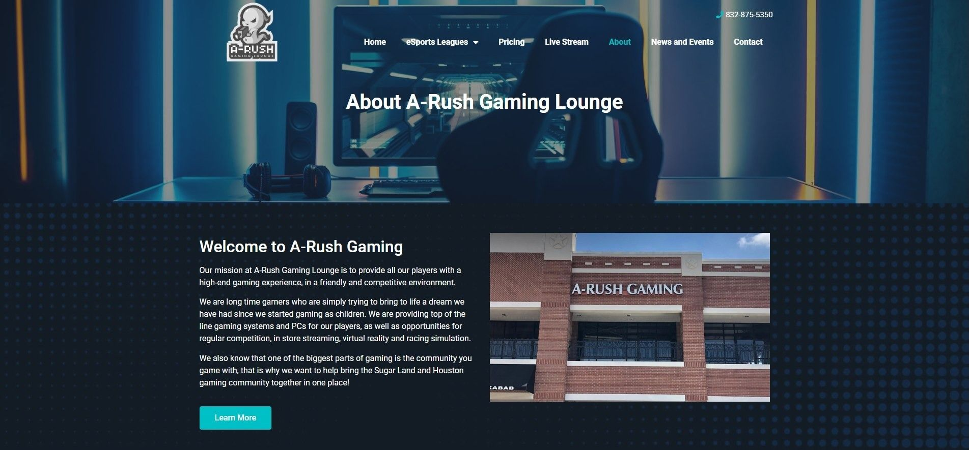 eSports Gaming Center About Page