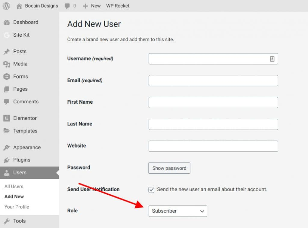 Change a User Role in WordPress
