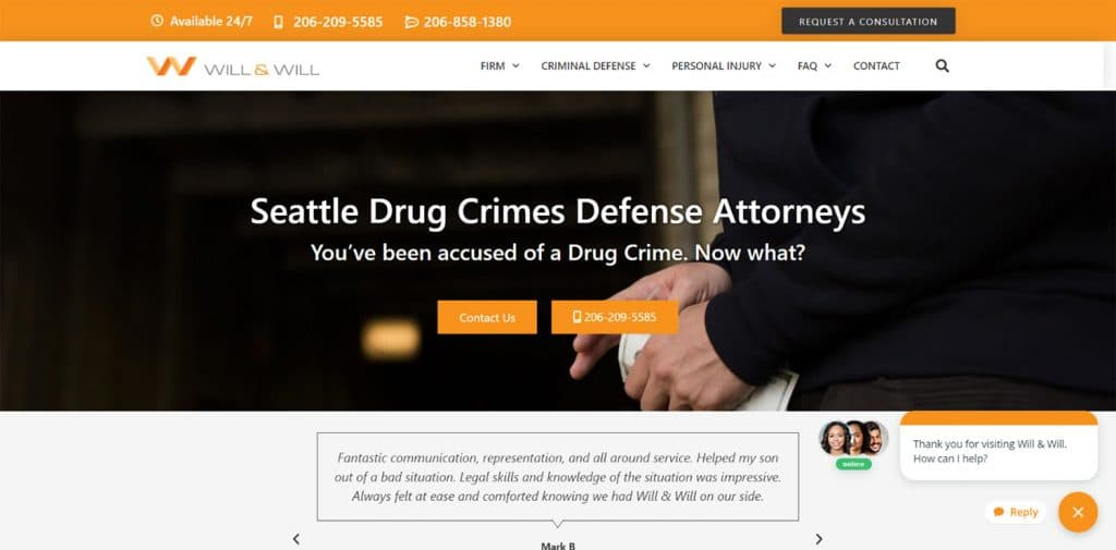 Will Defend - Attorney WordPress Website