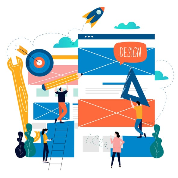 Website Design Professionals Illustration