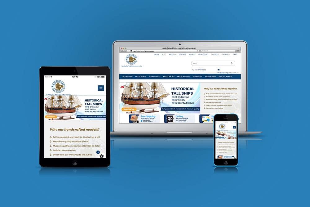 Seacraft Gallery Website Design Mockup