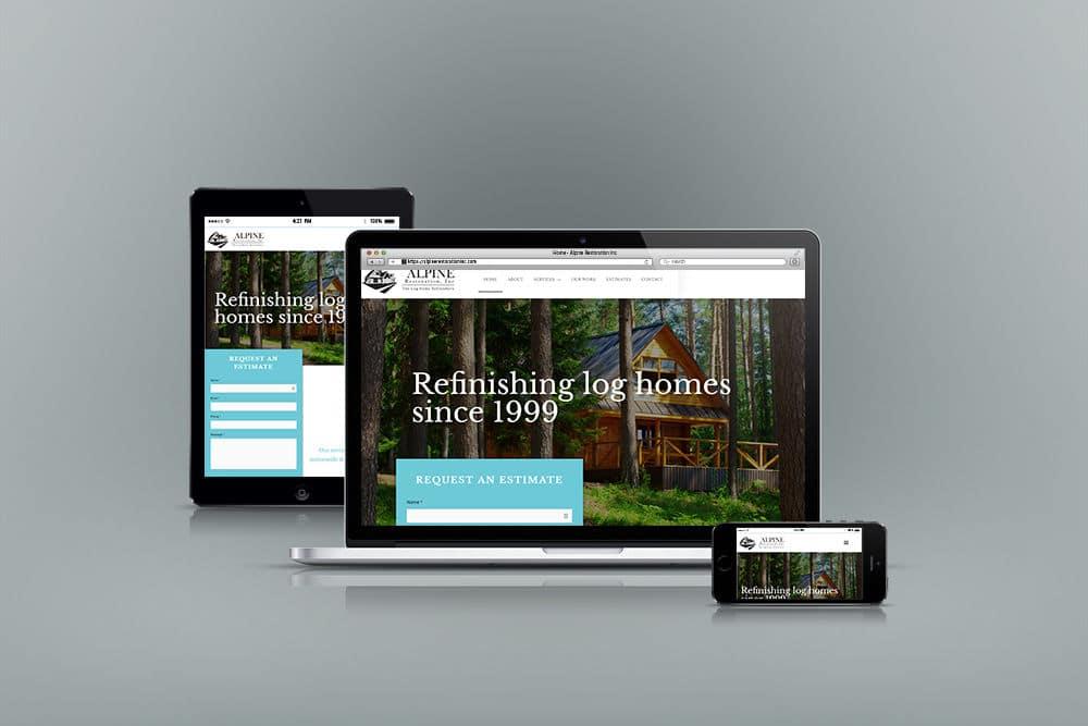 Alpine WordPress Website Design Mockup
