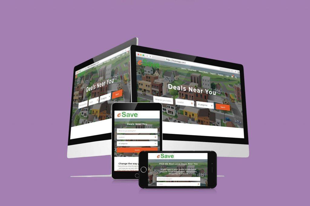 WordPress mobile web design example