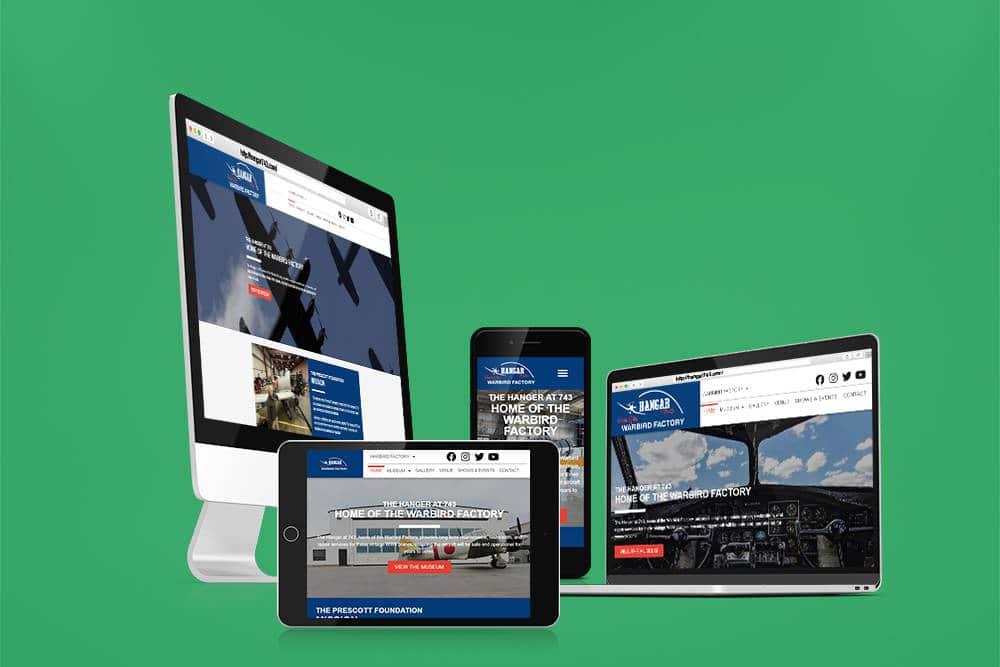 Hangar 743 WordPress Web Design