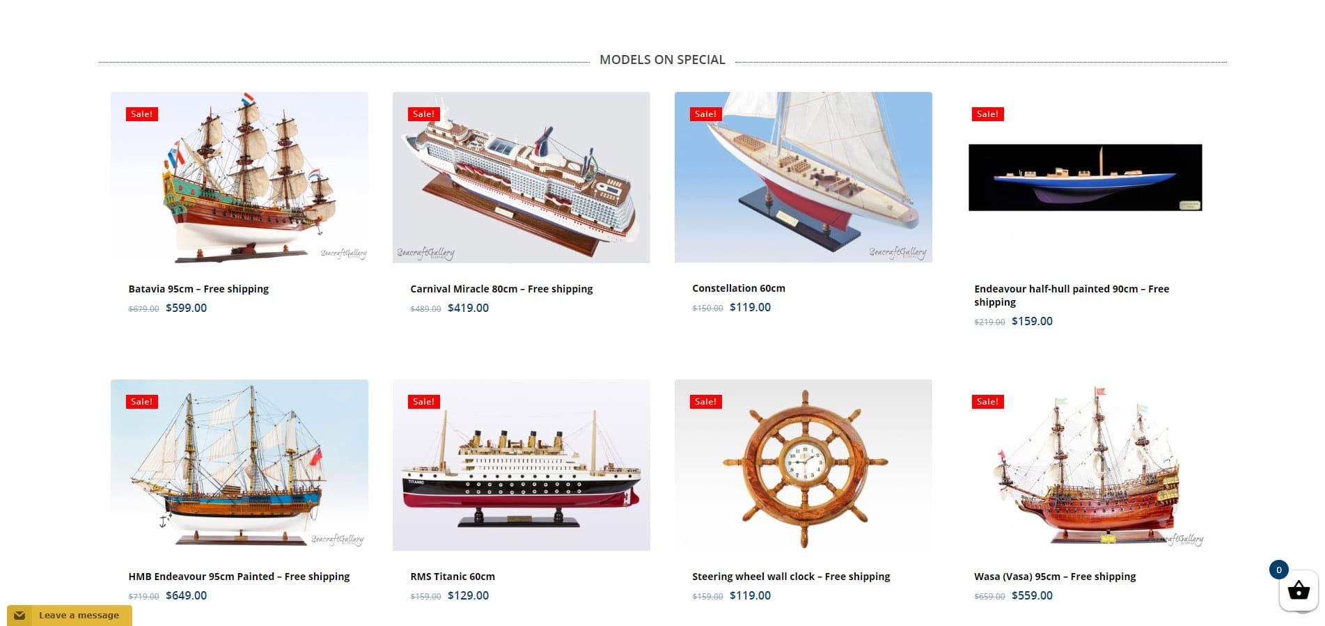 Seacraft Gallery Website Design